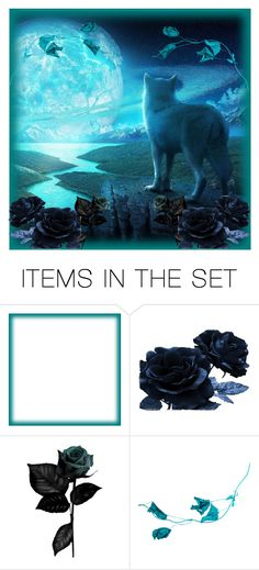 """New Icon🌓"" by moon-crystal-wolf ❤ liked on Polyvore featuring art"