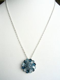 Shades of Blue Topaz Sterling Silver Necklace