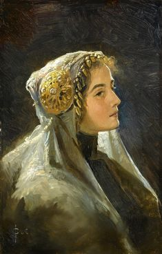"Sergey Solomko(1867 – 1928), ""Russian beauty"" 