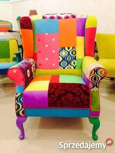 3 200 zł: Fotel uszak , bardzo wygodny , unikatowa tapicerka patchwork, robiony na indywidualne zamówienie. Zapraszamy do naszego sklepu ul Czerniakowska 176 Warszawa