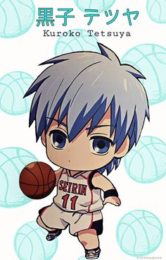 {Kuroko no Basket} Kuroko Tetsuya, Chibi, Seirin Uniform Chibi Kawaii, Cute Anime Chibi, Cute Anime Boy, Kawaii Anime, Kuroko Chibi, Kuroko No Basket Characters, Manga Anime, Koro Sensei, Kuroko Tetsuya