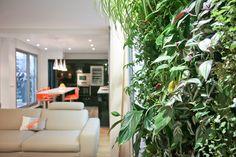 #Mur végétal #MyHomeDesign, reportage #Journaldesfemmes : duplex familial : composition végétale