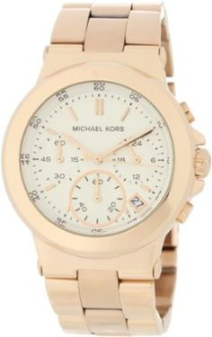 Michael Kors Watches Michael Kors Ladies Rose Gold Chronograph.  List Price: $250.00  Savings: $76.80 (31%)