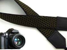 Honey cells camera strap. A sweet accessory...