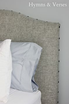 DIY Headboard 1 4 x 8 ft. piece of plywood or MDF 3 full/queen sized egg crate foam for mattresses at Walmart 1 package high loft batting (we purchased ...