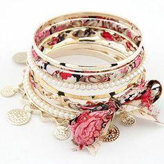 [grlhx1120001]Unique Bowknot Multilayer Bracelet...I believe I can make my own version... inspiration