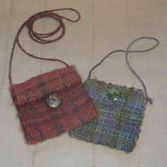 Pin loom purses
