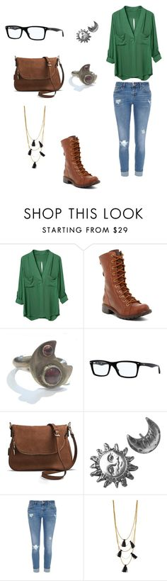"""""""Everyday #28"""" by calliechenevert ❤ liked on Polyvore featuring Timberland, Catherine Marche, Ray-Ban, Target, Stefanie Sheehan Jewelry, River Island, NAKAMOL, women's clothing, women and female"""