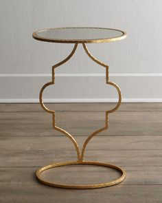 Floating Arabesque Side Table at Horchow. I really like the height of this table. Slightly taller that many that are available. #Horchow