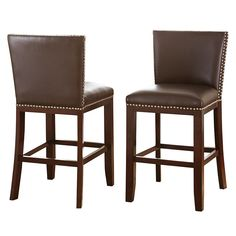 Branton Home Tiffany Counter Chair 2-piece Set, Brown
