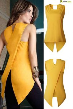Mode Outfits, Fashion Outfits, Womens Fashion, Fashion Trends, Ladies Fashion, Fashion Ideas, Womens Sleeveless Tops, Sleeveless Blouse, Stylish Tops For Women
