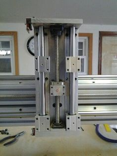 Imagini pentru diy cnc router rack and pinion Routeur Cnc, Cnc Router Plans, Arduino Cnc, Diy Cnc Router, Cnc Plans, Cnc Lathe, Cnc Wood, Wood Cnc Machine, Cnc Machine Tools