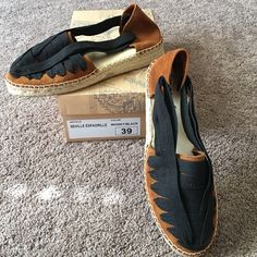 NIB Free People Seville Espadrilles Brand new in box. Fabulous Free People Espadrilles.  Size is 39 but fits more like an 8, so I've listed it that way. Free People Shoes Espadrilles