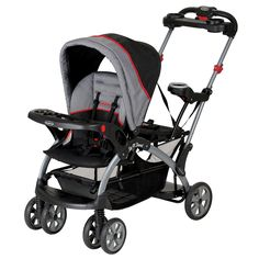 Baby Trend Sit N Stand Ultra Stroller, Millennium. Accommodates up to 2 children sitting in stroller seats, up to 2 in infant car seats, or one sitting and one standing. Stroller allows your older child to stand on the rear platform or sit on the rear seat. Accepts up to 2 Baby Trend, Graco Snugride Classic Fit and Britax infant car seats to make a travel system. Stroller accommodates 2 children up to 50 pounds each. Large Basket and easy compact fold for easy transportation or storage....