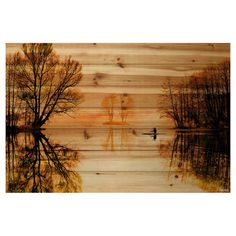 Journey into the lake with the Parvez Taj Glass Lake Pine Wood Wall Art. This piece is ink printed onto natural pine wood and depicts a journey deep into the lake with trees surrounding for a truly relaxed feeling. Lake Painting, Painting On Wood, Painting Prints, Sign Painting, Wood Wall Art, Framed Wall Art, Wood Walls, Wood Wood, Dark Tree