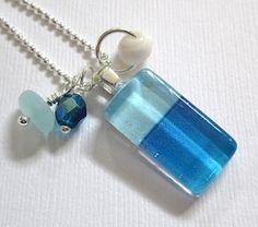 Kauna oa  Sea Glass Pendant by GardenLeafDesign on Etsy, $22.00