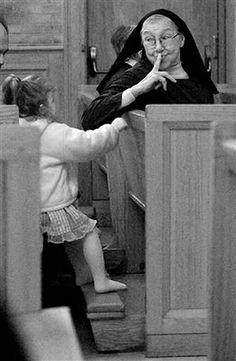 """Life is tough. Nuns are tougher"" ~ Sister Mary Martha Mary And Martha, Religion Catolica, Bride Of Christ, Les Religions, Catholic School, Catholic Children, Life Is Tough, We Are The World, Roman Catholic"
