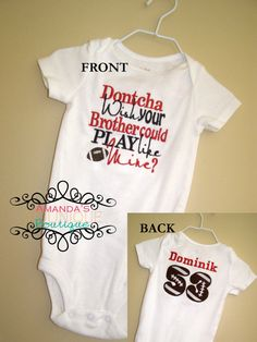 little sister football shirt | ... Wish Your Brother Could Play Football Like Mine Embroidered Shirt