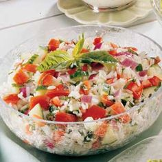 Basil Tomato Salad Recipe -This summer side with its fresh tasting tomatoes and…
