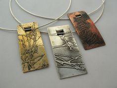 https://flic.kr/p/9H33ax | Wallum Windows Pendants | Sterling silver, brass and copper 2011 20 x 50 x 3mm (pendants)