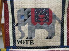 Giddap and Ararat Quilts Pixel Pattern, Pattern Art, Elephant Quilt, Barn Quilt Patterns, Cute Quilts, Pixel Art, Cactus, Applique, Blanket