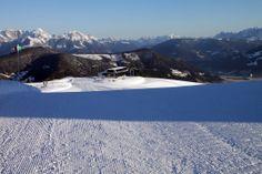 traumhafte Pistenbedingungen im snow space Flachau 24.2.2014