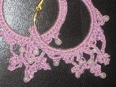 Dangly Beaded Earrings In Hoops  Free Crochet Me Patterns Slideshow - Crochet Me