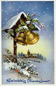 Vintage Postkaart~NL.Gelukkig Nieuwjaar~lb xxxX