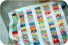 scrappy quilts easy | Love the easy design. Even though the pieces are small, they'd be fast ...