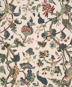 """Bennison's Crewelwork, the fabric Julia Reed carried around """"like a talisman for almost fifteen years."""