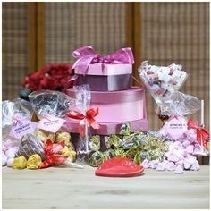 Indulgent Tower of Treats Hampers, Tower, Tasty, Treats, Table Decorations, Home Decor, Sweet Like Candy, Homemade Home Decor, Lathe