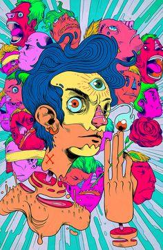 Vibrantes ilustrações do mexicano Raul Urias