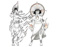 Character designs based on the cosmogony of the Mbya-Guarani, a South American native people that lives between Brazil, Paraguay, Argentina and Uruguay.