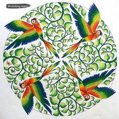 Magical Jungle parrots mandela
