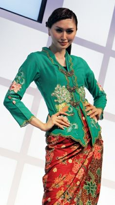 Kebaya nyonya worn in earlier times by Peranakan women in Singapore & Malaysia. Now worn usually only on festive occasions.