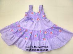 girls dress Sundress Little Mermaid Ariel by thunderridgedesign, $39.50