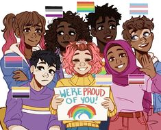 Let's Go Lesbians!: Photo Pride Month is here! These are my Pride Ocs which are based off of a few (but obviously not all) Pride flags. Hope you all have a lovely month All Pride Flags, Pansexual Pride, Lgbt Memes, Gay Aesthetic, Cute Art Styles, Lgbt Community, Gay Art, Cute Drawings, Oc Drawings