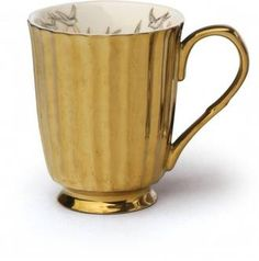 Miss Etoile Gold Bird Mug $18 - Perch Home