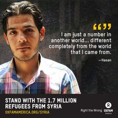 Powerful words from Hasan, a Syrian refugee now living in the Zaatari Camp in Jordan. #syria