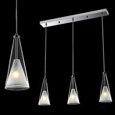 LAMPA wisząca BUTIO MD9190-3A Italux IP20 szklana OPRAWA halogenowa kielich dzwon bell biała