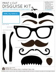 disguise kit. Cute to use at a party.