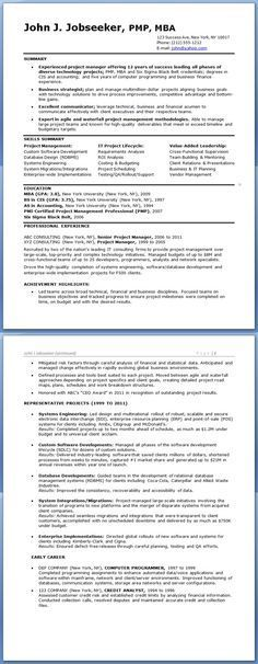 12 best Project manager resume images on Pinterest Resume ideas