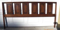 Mid Century Modern Headboard Bed King Size Broyhill Emphasis Vintage Frame MCM #BroyhillFurniture