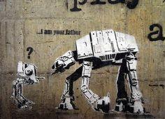 Star Wars Confusion - Banksy Graffiti