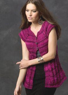 Midnight Rose Short Sleeve Cardi | AllFreeKnitting.com