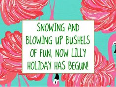 SNOWING AND BLOWING UP BUSHELS OF FUN, NOW LILLY HOLIDAY HAS BEGUN! #LillyHoliday