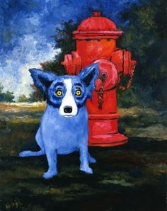 Musings of an Artist's Wife: Blue Dog: The Ghost of Tiffany, 1990-1992