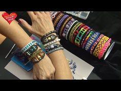 Ideen mit Herz - Loom Bänder - Armband Idee Nr. 6 (mit Strass-Rondellen) - YouTube