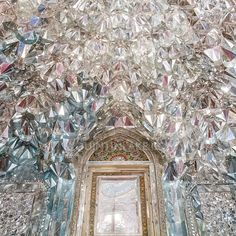 Mirrored Hall of Diamonds (Talar Almas) of Golestan Royal Palace Tehran, Iran
