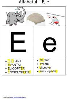 litera E - alfabetul ilustrat Educational Activities, Tech Companies, Company Logo, Logos, Double Deck Bed, Teaching Materials, Logo, A Logo, Educational Crafts